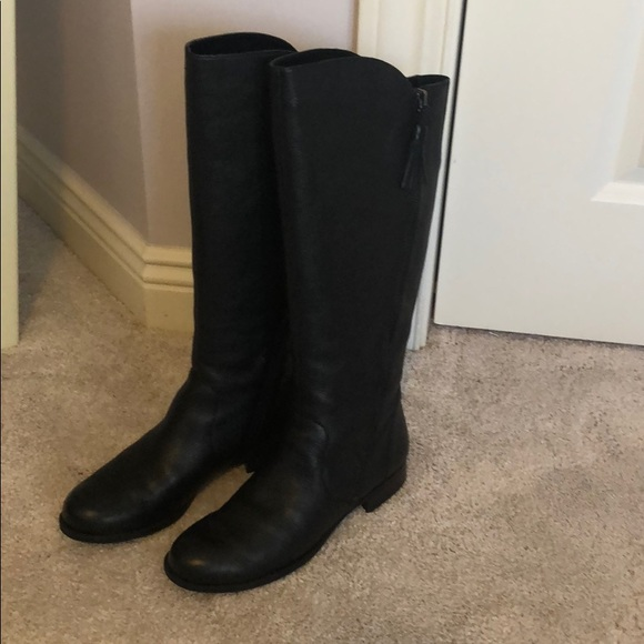 Jinnie Black Leather Riding Boot By